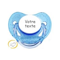 Attache tétine personnalisée Petit Prince bleu