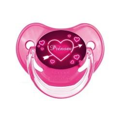 Sucette-personnalisee-couleur-tetine-personnalisée-tetine bebe-coeur-rose