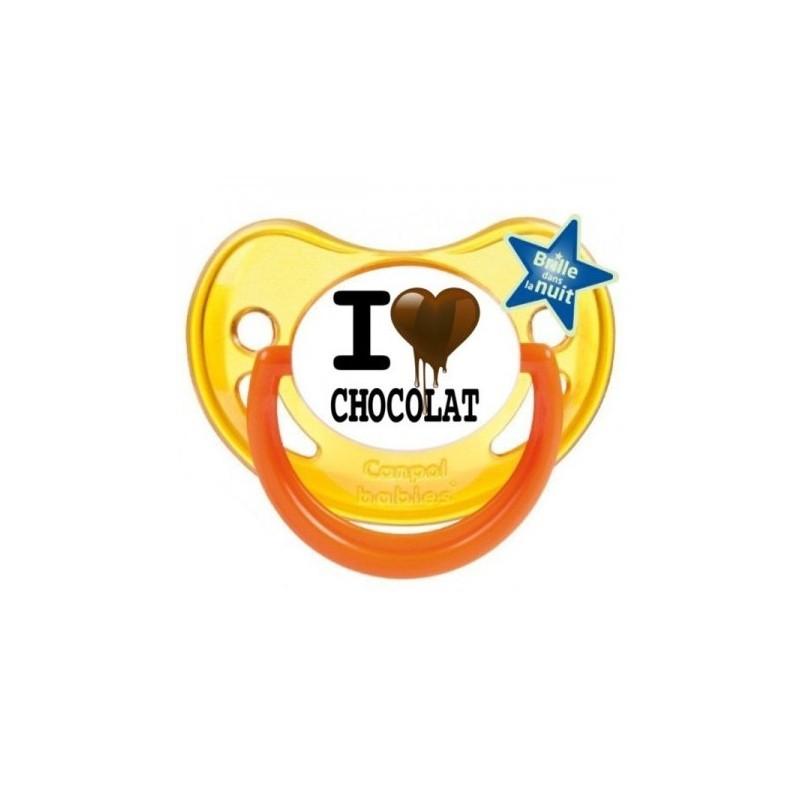 Sucette personnalisée prénom I Love Chocolat sucette personnalisée
