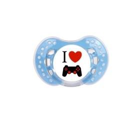 Sucette personnalisée j'aime / i love I Love jeux vidéos sucette personnalisée