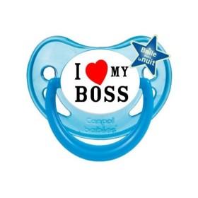 Sucette personnalisée j'aime / i love I Love My boss sucette personnalisée