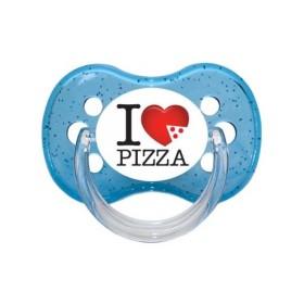 Sucette personnalisée j'aime / i love I Love Pizza sucette personnalisée