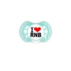 Sucette personnalisée prénom I Love RNB sucette personnalisée