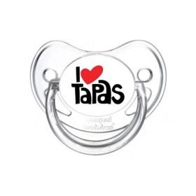 Sucette personnalisée j'aime / i love I Love Tapas sucette personnalisée