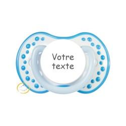 Sucette personnalisée Hot and cold bleu