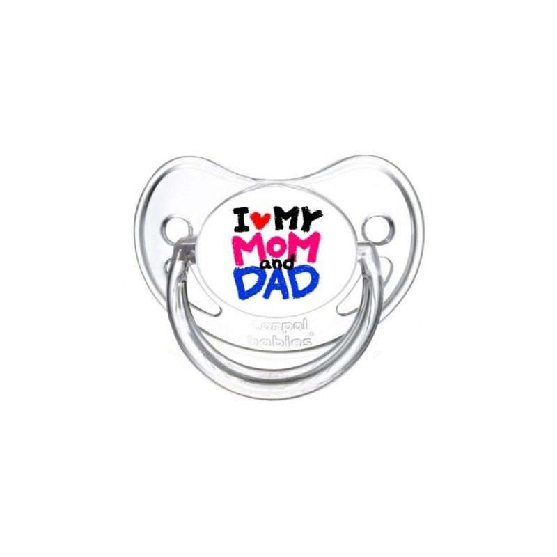 Sucette personnalisée prénom I Love Mom and Dad sucette personnalisée