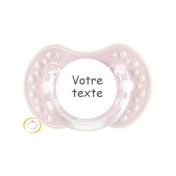 Sucette personnalisée Style rose blanc