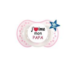 Sucette personnalisée j'aime / i love J'aime mon papa sucette personnalisée Bébé Création