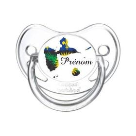 Sucette personnalisée Pays / Régions / Drapeaux Guadeloupe Tétine personnalisée