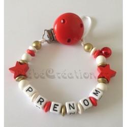 Attache-tétine-personnalisée-etoile-rouge