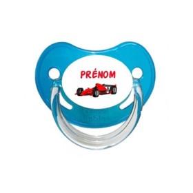 Sucette personnalisée prénom Formule 1 Prénom Tétine personnalisée