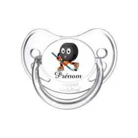 Sucette personnalisée prénom Hockey Prénom Tétine personnalisée