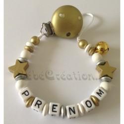 Attache-tétine-personnalisée-etoile-or