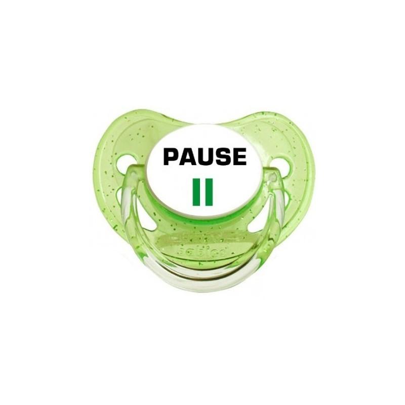 Sucette personnalisée Message - Humour Pause tétine personnalisée
