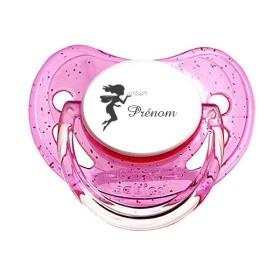 Tétine prénom laser  Prénom Logo - sucette personnalisée Sucette personnalisée Fée