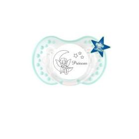Tétine prénom Sucette personnalisée Lune étoiles