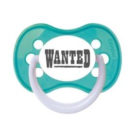 Tétine prénom laser  Message - sucette personnalisée Sucette personnalisée Wanted
