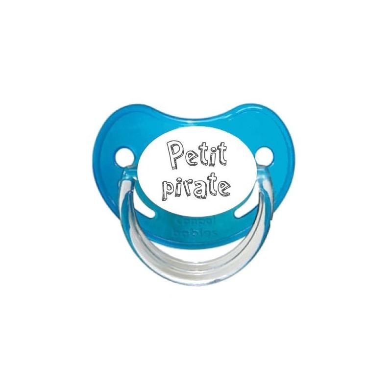 Tétine prénom laser  Message - sucette personnalisée Sucette personnalisée Petite Pirate