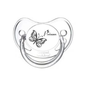 Tétine prénom laser  Animaux - sucette personnalisée Sucette personnalisée Papillon 2