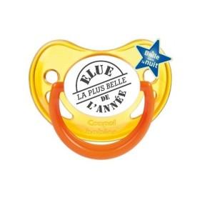 Tétine prénom laser  Humoristique - sucette personnalisée Sucette personnalisée Elue la plus belle de l'année