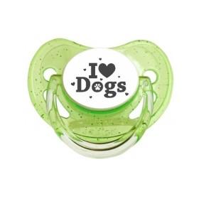 Tétine prénom laser  I love / I like - sucette personnalisée Sucette personnalisée I love Dog