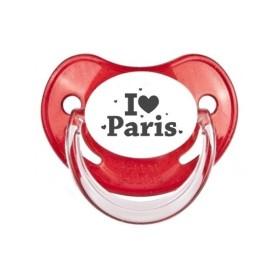 Tétine prénom Sucette personnalisée I love Paris