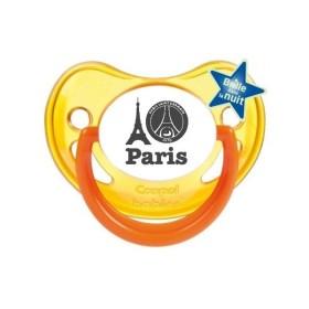 Tétine prénom Sucette personnalisée I love Paris 2