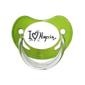 Tétine prénom laser  I love / I like - sucette personnalisée Sucette personnalisée j'aime Algérie