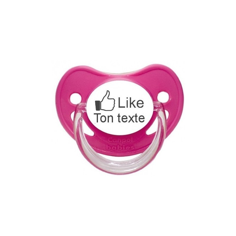 """Tétine prénom Sucette personnalisée I Like """"votre texte"""""""