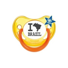 Tétine prénom laser  I love / I like - sucette personnalisée Sucette personnalisée I love Brazil