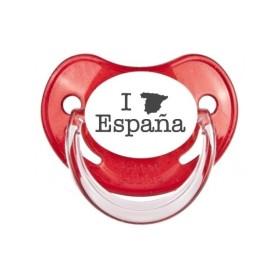 Tétine prénom Sucette personnalisée I love Espagne