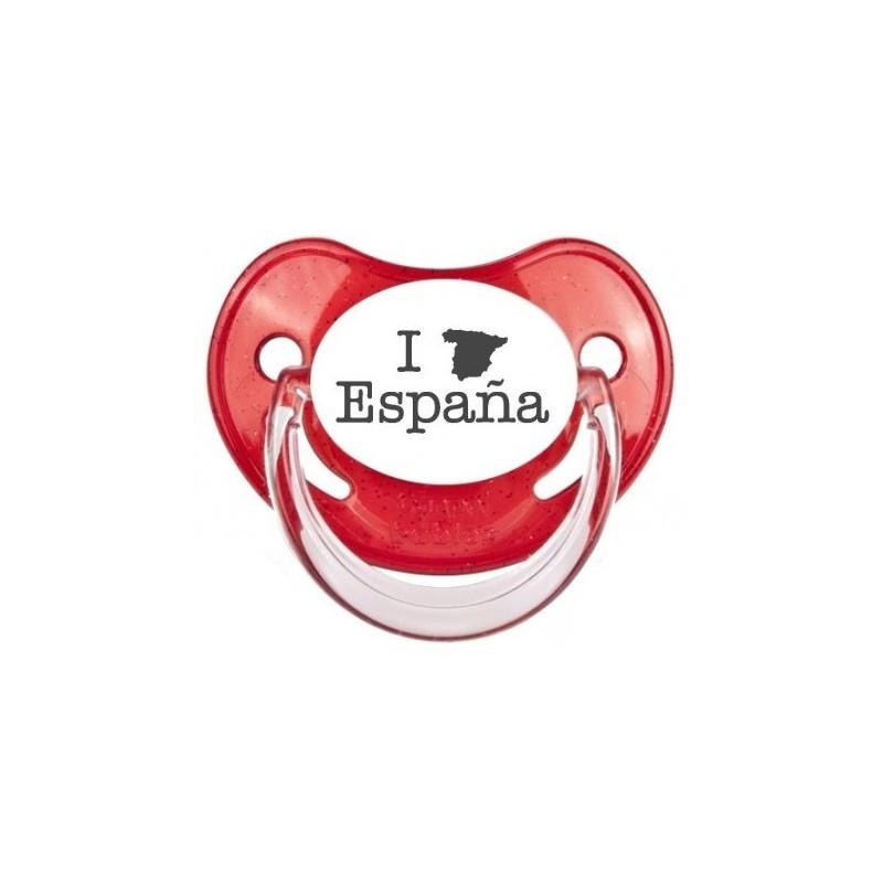 Tétine prénom laser  I love / I like - sucette personnalisée Sucette personnalisée I love Espagne