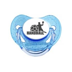 Tétine prénom laser  Sport / Loisir / Véhicule - sucette personnalisée Sucette bébé Handball