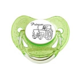 Tetine-prenom-Sucette-bebe-Tracteur-et-Prenom
