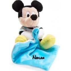 Doudou personnalisé broderie Disney ourson en peluche cape de bain carnet de santé personnalisé prénomDoudou Mickey Lumineux