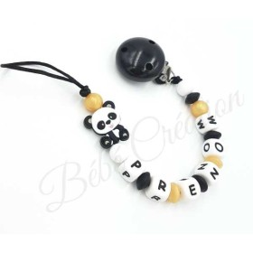 Attache-tetine-personnalise-Panda-Or