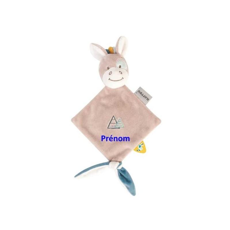 Doudou personnalisé broderie Disney ourson en peluche cape de bain carnet de santé personnalisé prénomDoudou Tim le cheval Na...