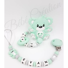 Pack Ourson Menthe Silicone
