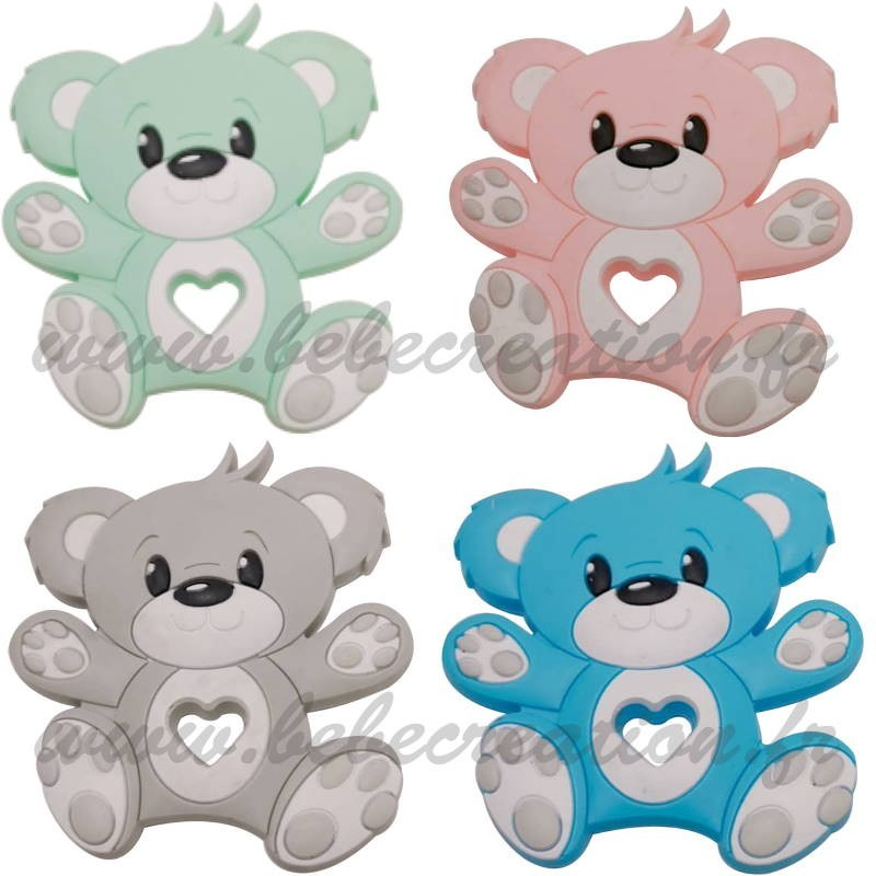 ourson-jouet-dentition-bebe-menthe-rose-gris-bleu