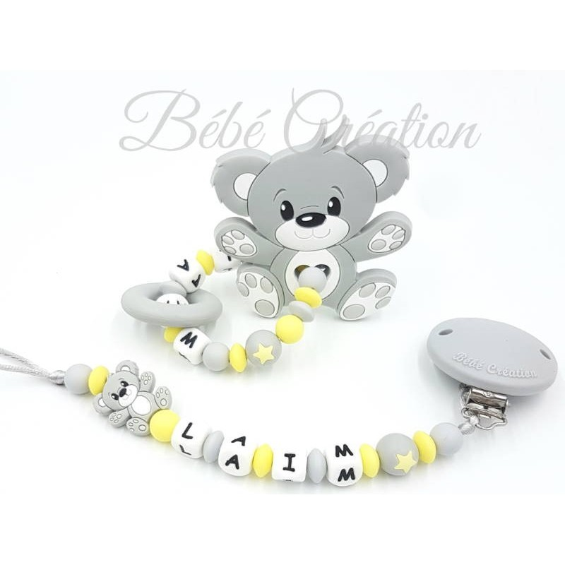 Pack Ourson Gris Silicone en silicone