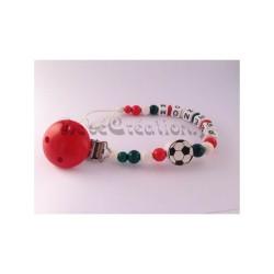 Attache-tétine-personnalisée-football-italie