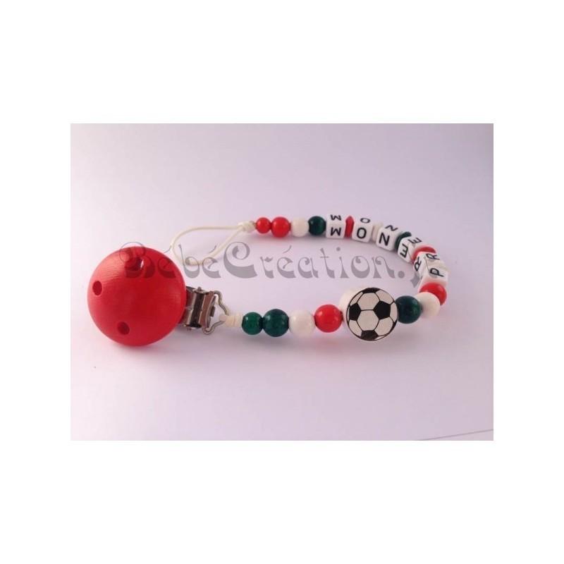 Attache-tetine-personnalise-Italie-Football-en-bois