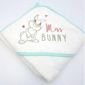 Cape de bain Cape de Bain personnalisée Miss Bunny
