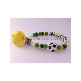 Attache Tétine personnalisé Football Attache tétine personnalisé Jamaïque Football