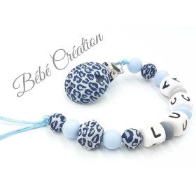 Attache-tetine-leopard-bleu