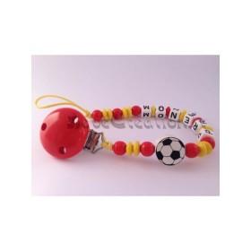 Attache Tétine personnalisé Football Attache tétine personnalisé Espagne Football