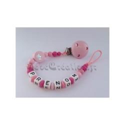 Attache-tétine-personnalisée-princesse-rose