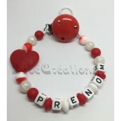 Attache-tétine-personnalisée-silicone-coeur-rouge