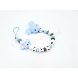 Attache-tétine-personnalisée-silicone-koala-bleu