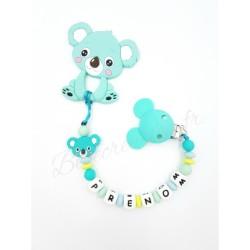 Attache tétine personnalisé Koala   Pack Koala Océan Silicone  Bébé Création